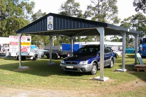 Deluxe Gable Carport with Gable Infills