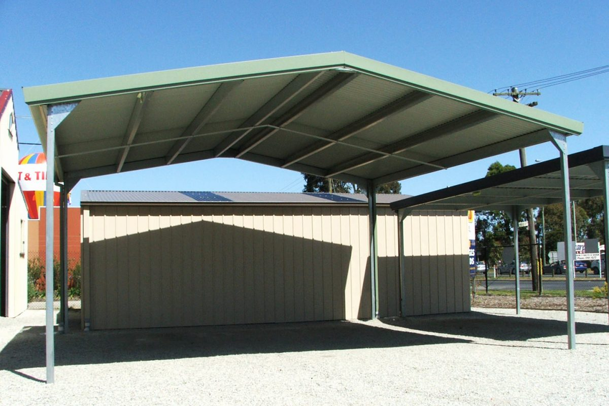 Carports sheds and garages for sale ranbuild for Gable roof carport