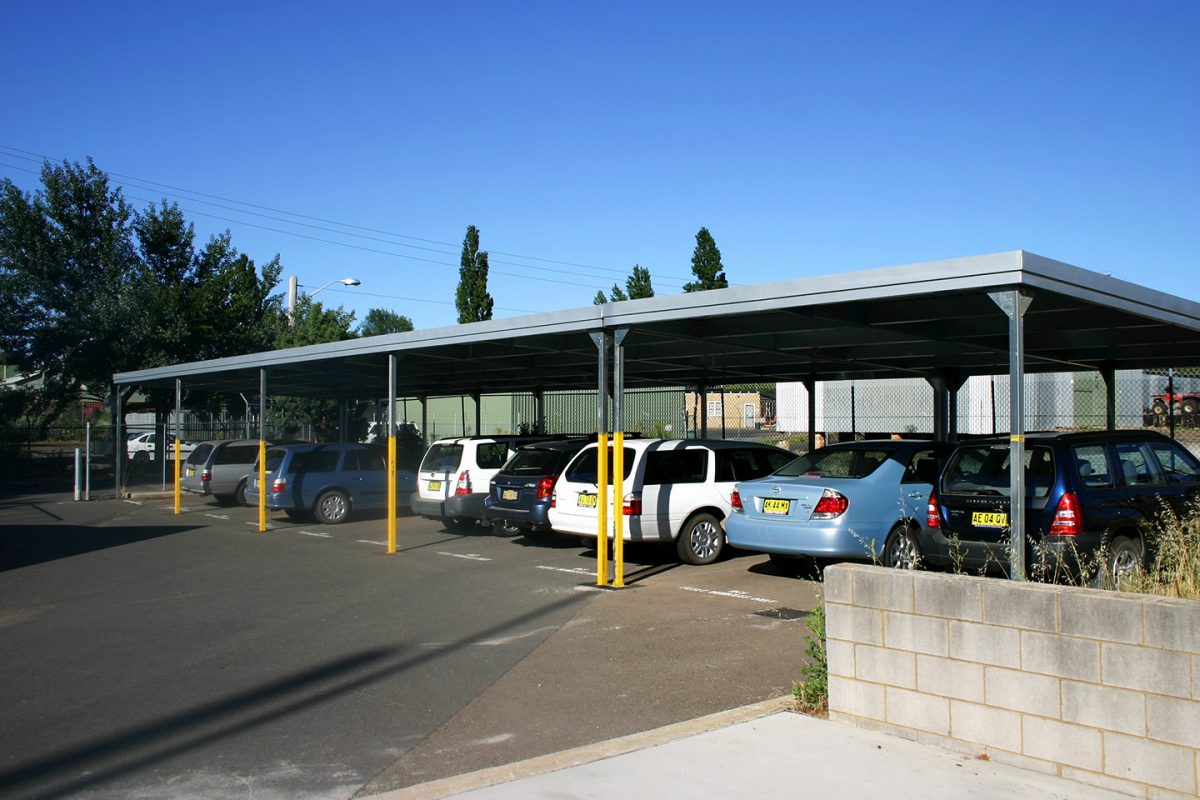 Multi Bay Skillion Carport