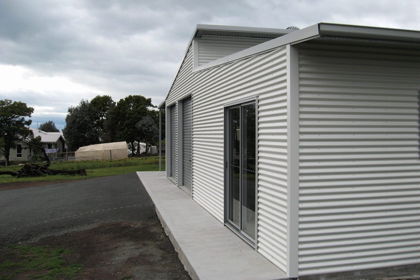 Double Skillion Sheds And Garages With Eaves For Sale