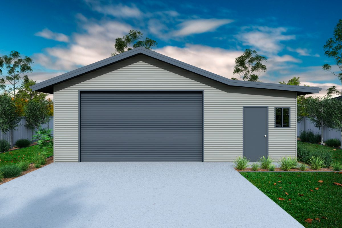 Garage with eaves