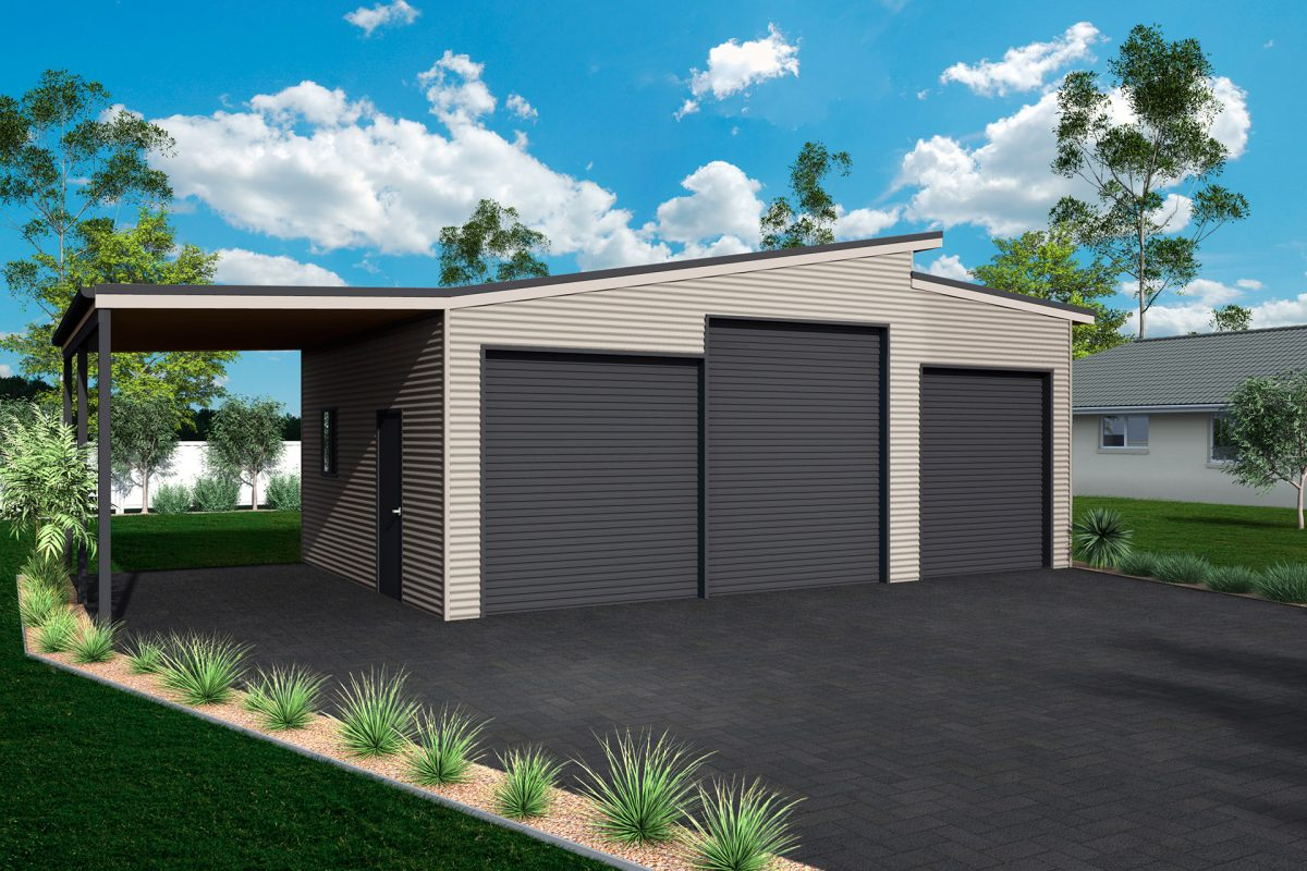 skillion roof sheds and garages ranbuild. Black Bedroom Furniture Sets. Home Design Ideas