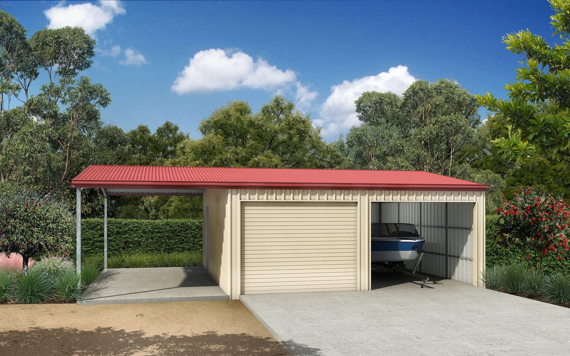Garaports sheds and garages ranbuild double garage with roof extension solutioingenieria Gallery