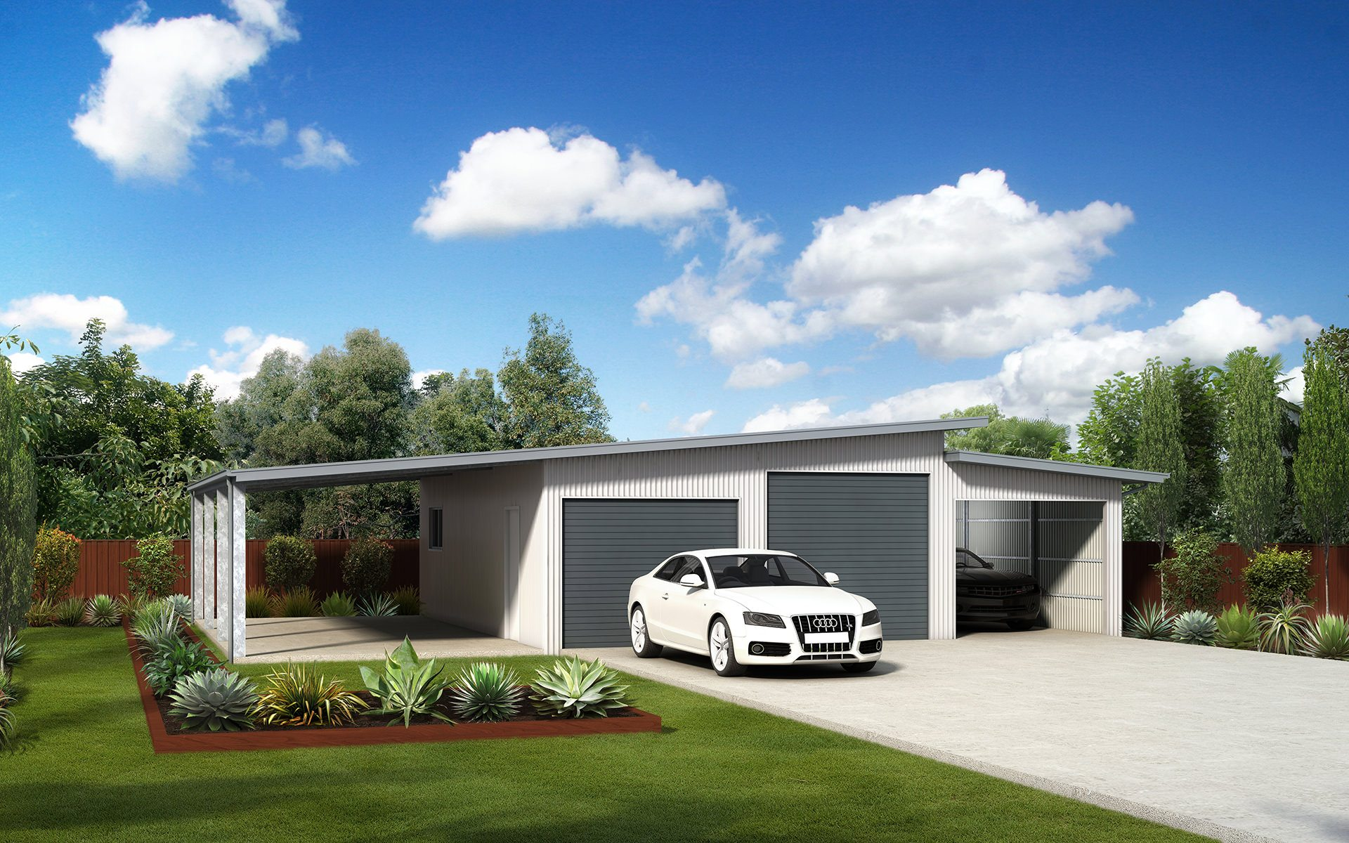 skillion roof sheds and garages ranbuild skillion roof sheds and garages