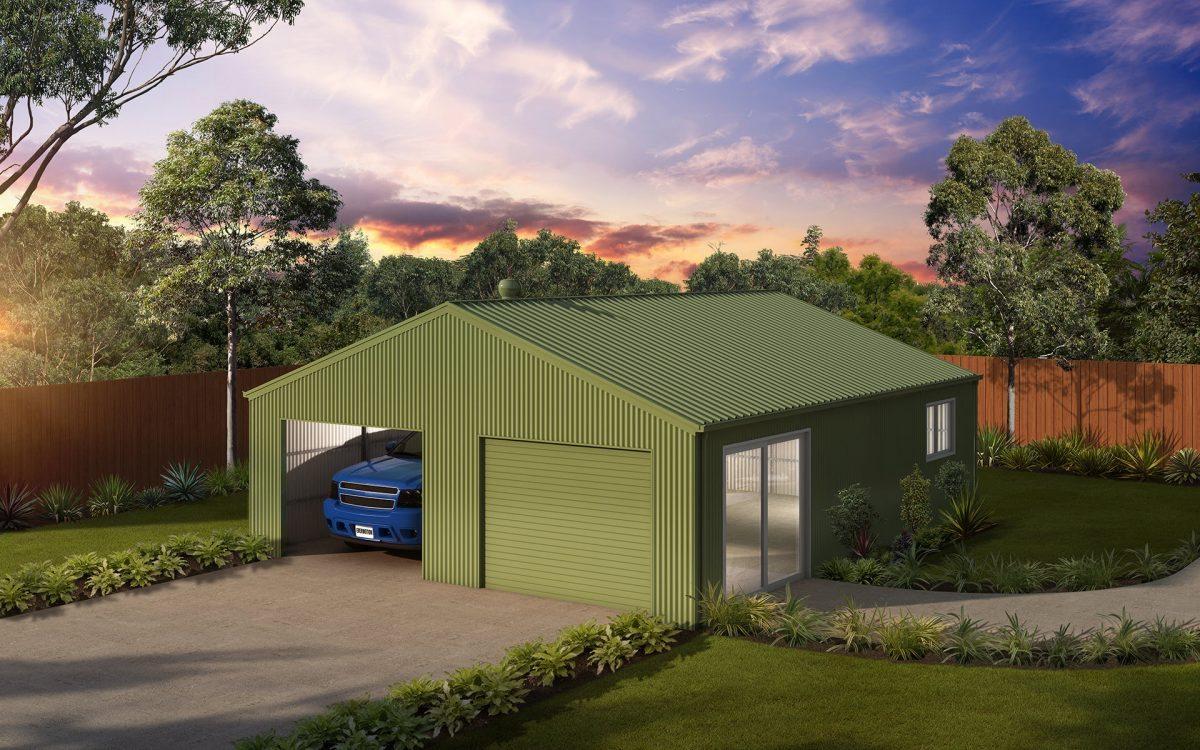 Oversize double garage