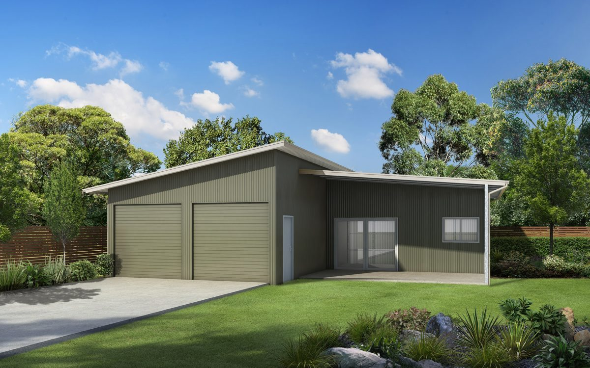 Skillion roof sheds and garages ranbuild for Garages and sheds