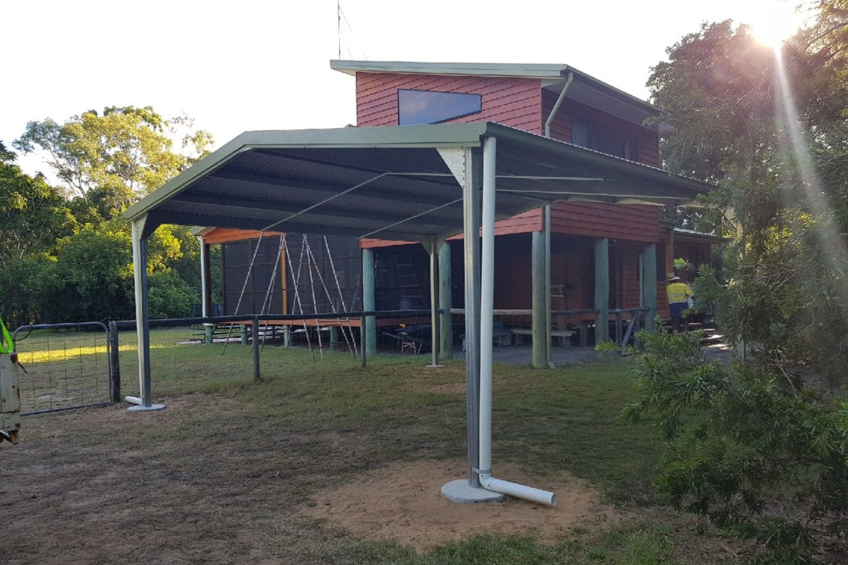Double Gable Carport