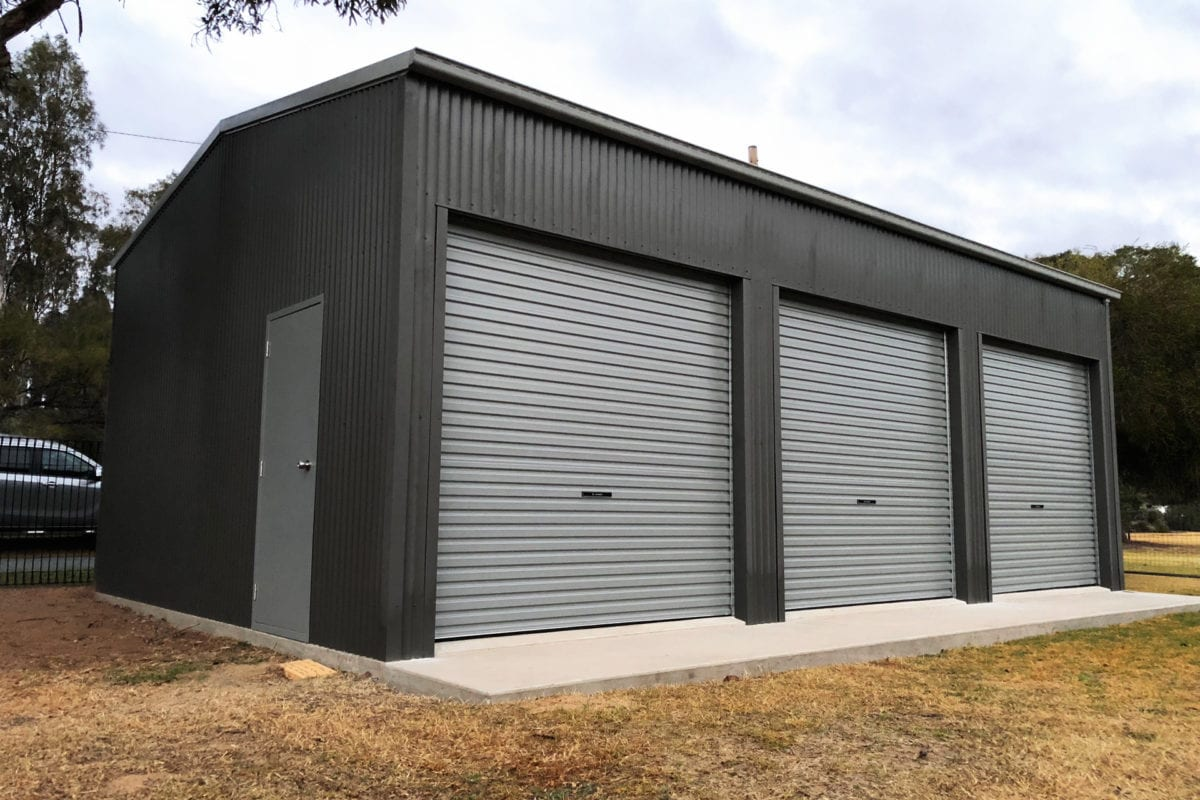 Deluxe storage shed